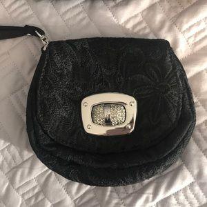 Karen Millen black evening wristlet purse bag